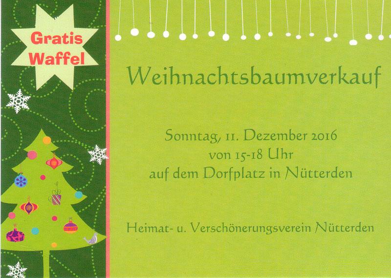 Einladung zum Weihnachtsbaumverkauf